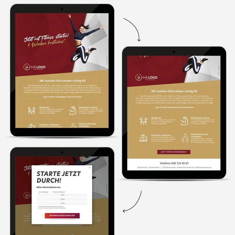 Mit Fitness starten - Landing Page