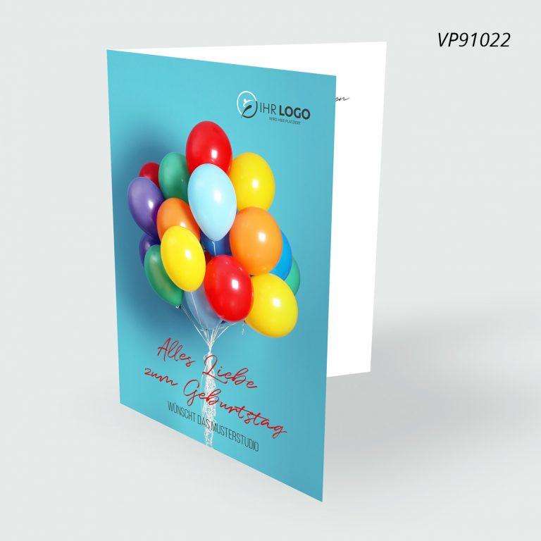 Geburtstags Postkarte 4-seitig