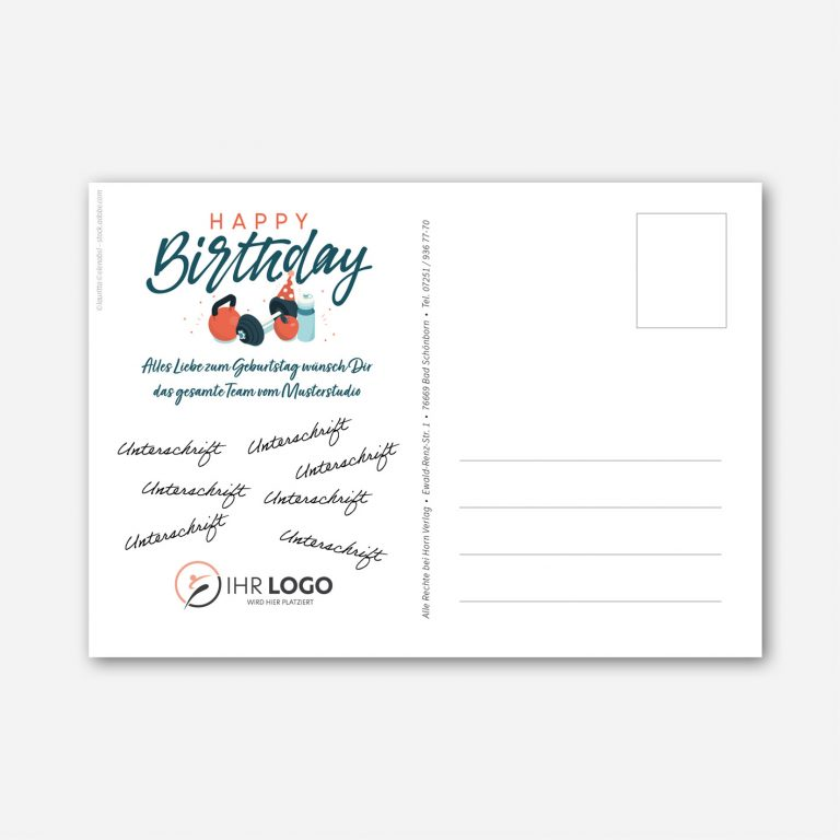 Postkartenvorlage Rueckseite