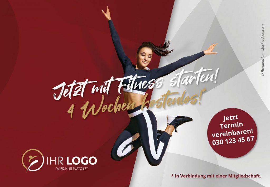 Mit Fitness Starten - Hausbanner Motiv 1